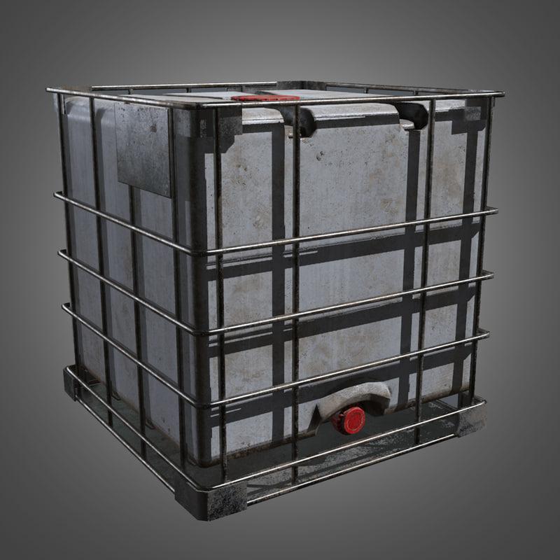 3d water storage tank -
