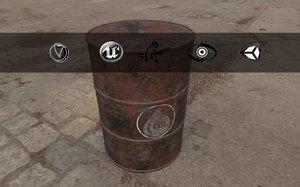 3d model barrel oil style