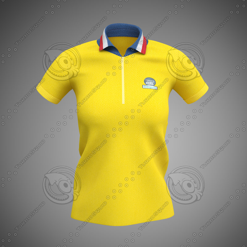 3d polo women shirt