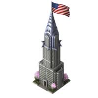 3d model chrysler building