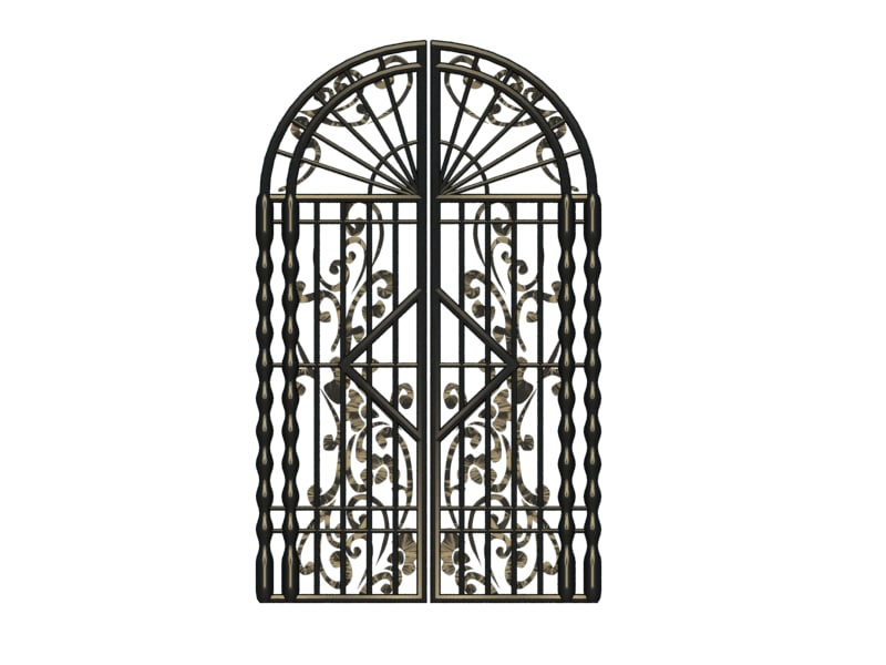 iron gate obj