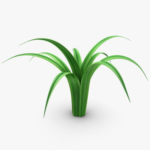 realistic grass leaves 3ds