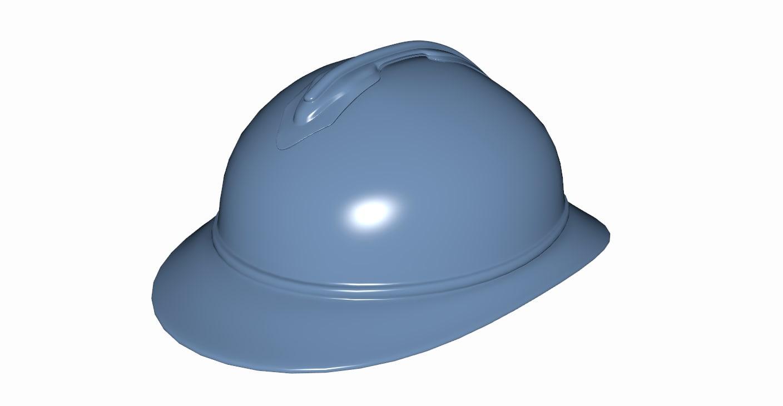 3d french adrian helmet model