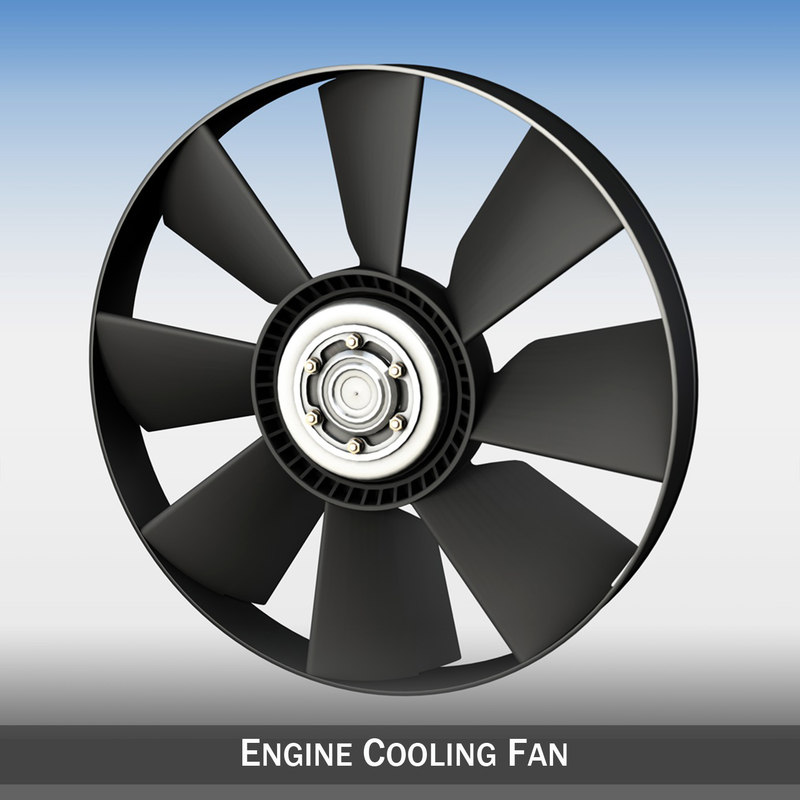 engine cooling fan 3ds