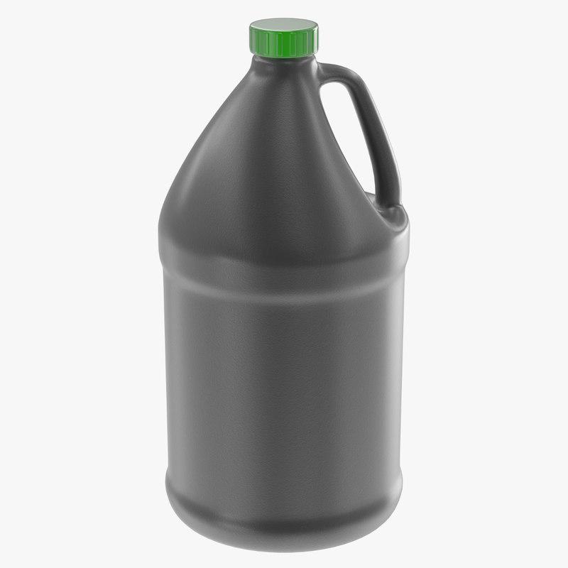 gallon jug 3d obj