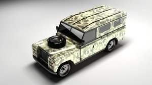 classic 1990 land rover 3d 3ds