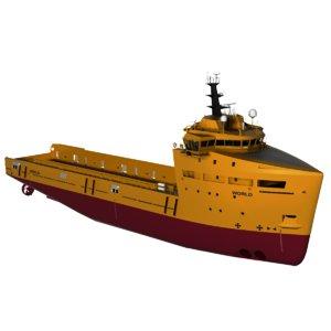 world platform supply vessel 3d model