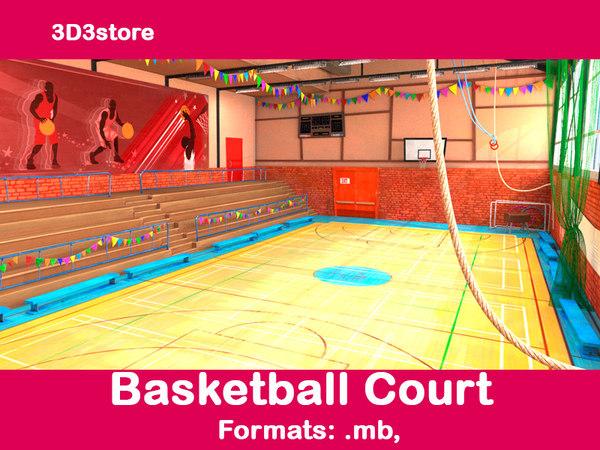 basketball basket ball 3d ma