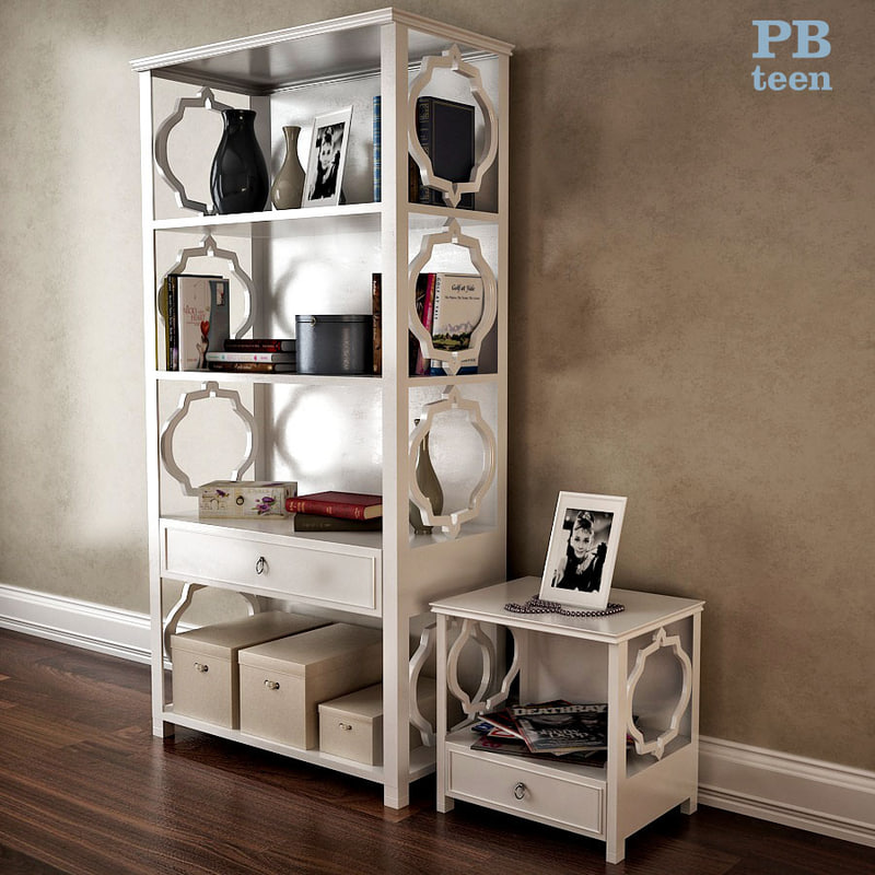 pb teen elsie bookcase 3d x