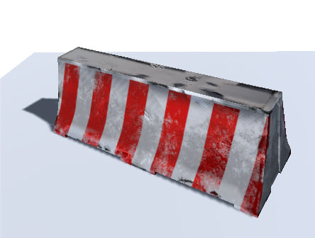 road barrier polys 3d obj