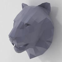 Lion Head Papercraft