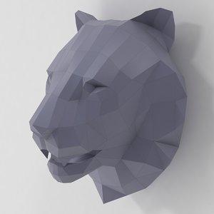 paper lion 3d model