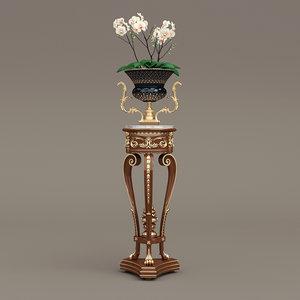 modenese gastone vase tripod 3d model