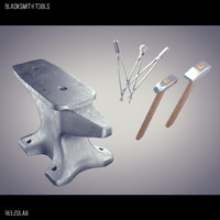 3d model blacksmith tools