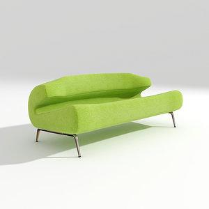 3d model artifort bird sofa design