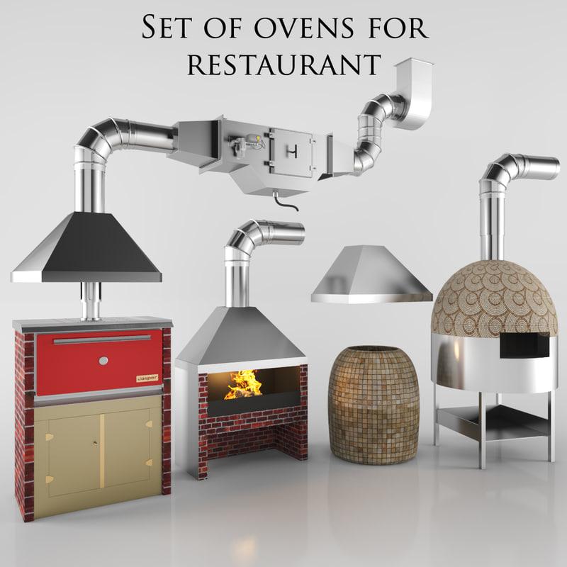 3d set ovens model