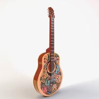 skull guitar 3d model