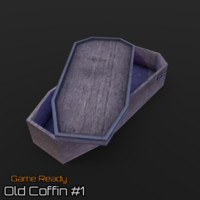 ready old coffin 3d model