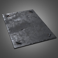 Metal Ground Plate - PBR Game Ready