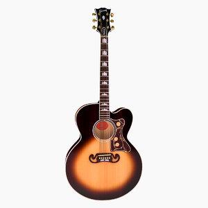 3d acoustic guitar gibson j200 model