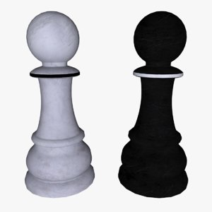 3d model pawn chess games