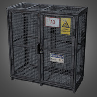 Gas Cylinder Cage - PBR Game Ready
