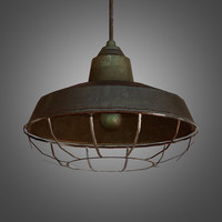 Hanging Metal Industrial Light - PBR Game Ready