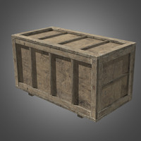 Wooden Crate 2 - PBR Game Ready
