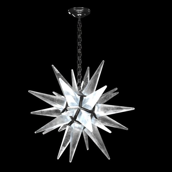 light rock crystal 3d model