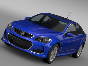 holden commodore sv6 vf 3d model