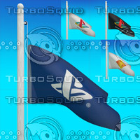 flags playstation - loop 3d model