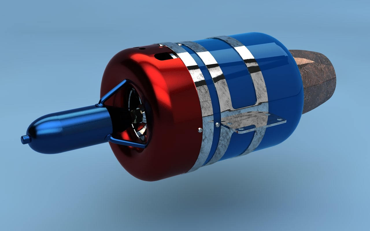 jet turbine engine c4d