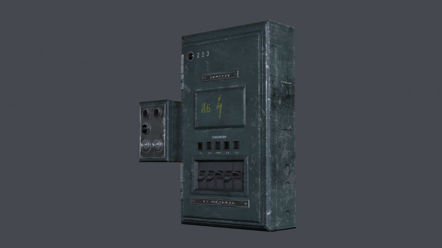 Industrial Fuse Box Set - PBR Game Ready