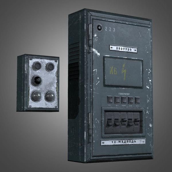 3d industrial fuse box - modelTurboSquid