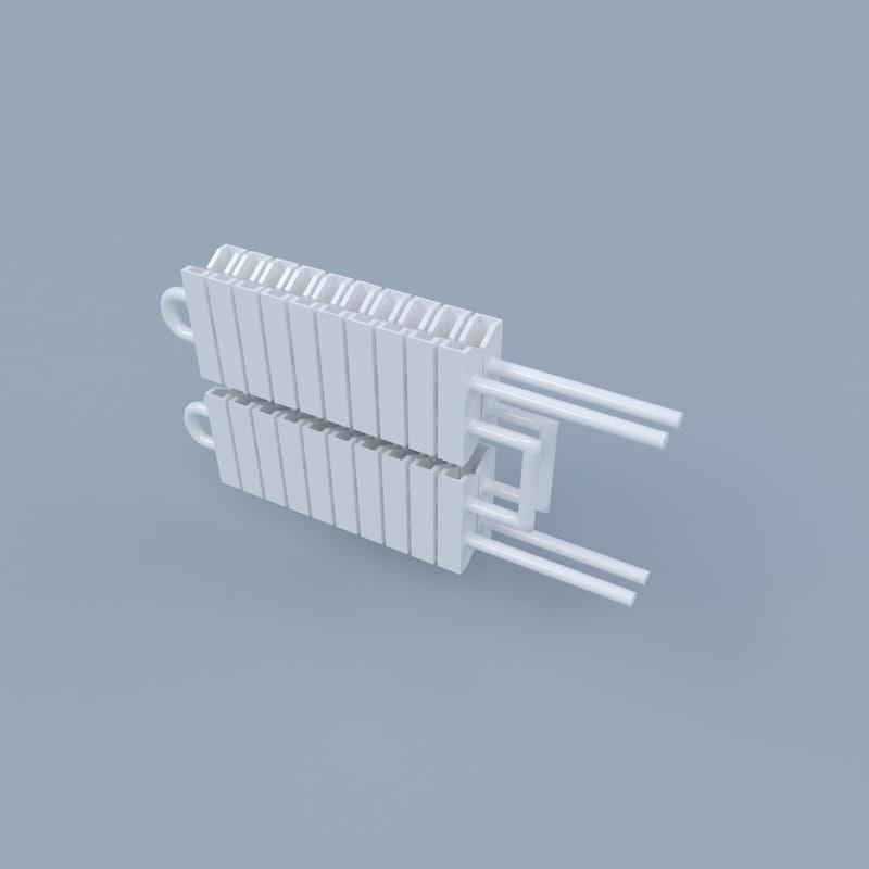 3d model radiator pipe
