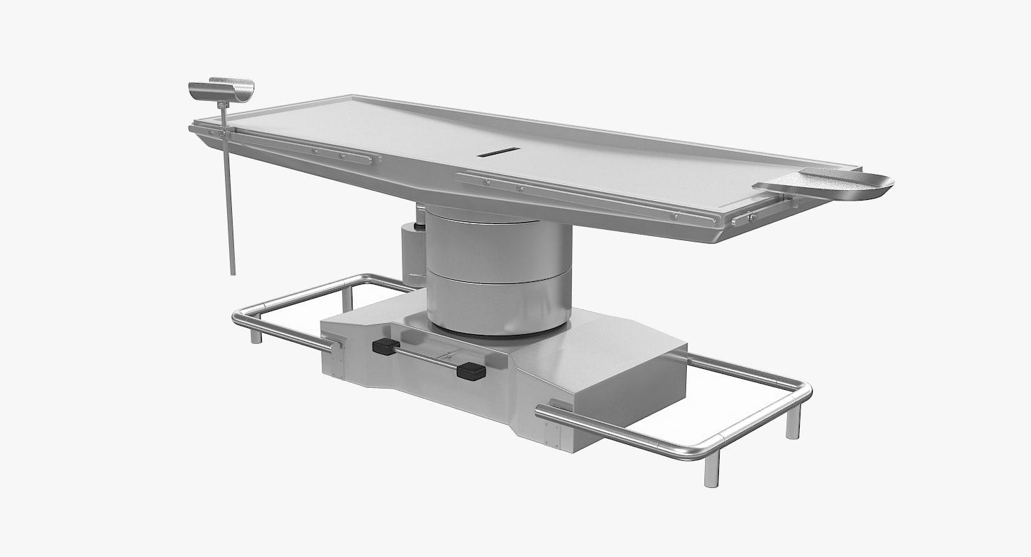 anatomy table 3d model