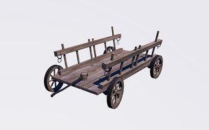 3d transport wagon model