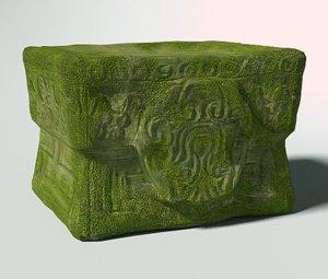 mayan artifact 3d model