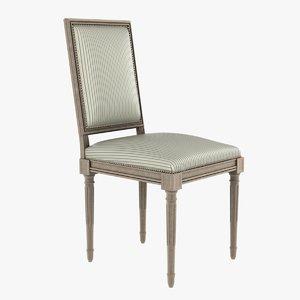 3d model classic chair lena