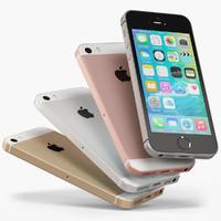 apple iphone se phone 3d max