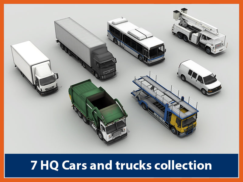 pack cars - 3d 3ds