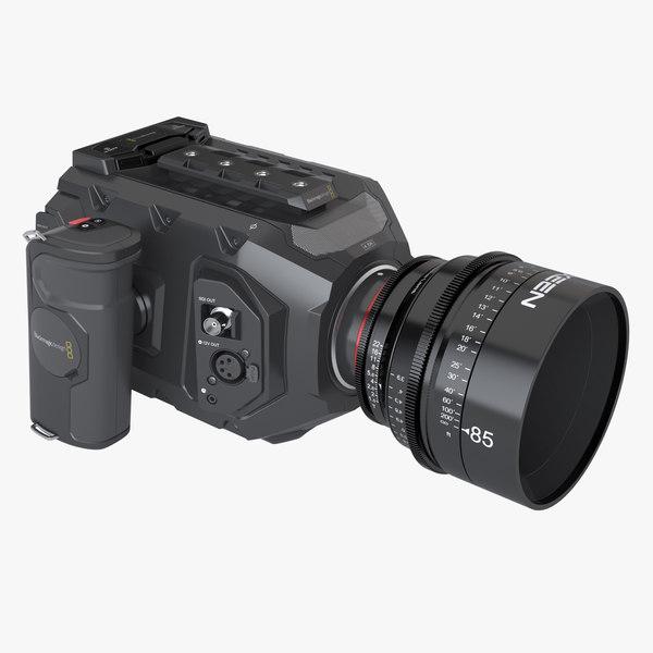 3d model of photoreal movie camera blackmagic