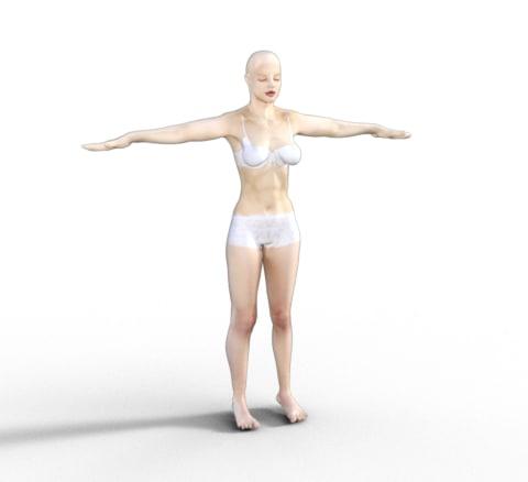 free obj model mujer medium