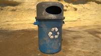 trash recycle 3d fbx