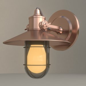 3d model industrial light