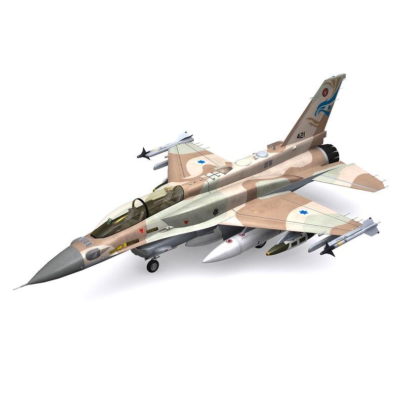 general dynamics f-16 jet fighter 3d model