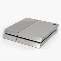 sony playstation 4 console 3d max