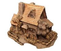 obj medieval stone cottage