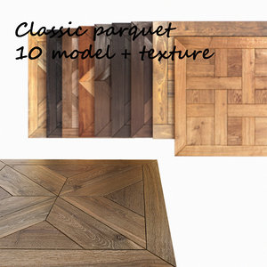 classic modular flooring 3d max