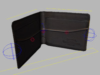 3d rigged wallet model